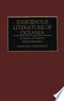 Indigenous Literature of Oceania