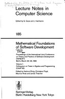Mathematical Foundations of Software Development