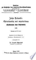Christentum ohne Geheimnis