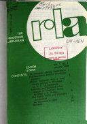 The Rhodesian Librarian