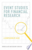 Event Studies For Financial Research Book PDF