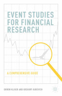 Event Studies for Financial Research Pdf/ePub eBook