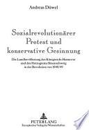 Sozialrevolutionärer Protest und konservative Gesinnung