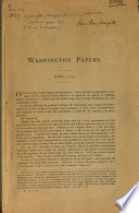 Specimen Pages of a Proposed Publication of the Papers of Washington  Franklin  Etc