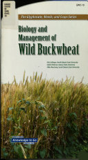 Biology and Management of Wild Buckwheat Book