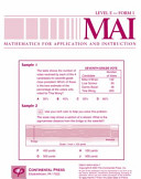 Mathematics for Application and Instruction