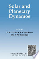 Solar And Planetary Dynamos Book PDF