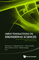 Iaeng Transactions On Engineering Sciences  Special Issue For The International Association Of Engineers Conferences 2019