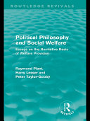 Political Philosophy and Social Welfare (Routledge Revivals)