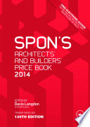 Spon's Architects' and Builders' Price Book 2014