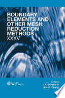 Boundary Elements And Other Mesh Reduction Methods Xxxv Book PDF