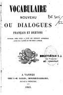 Vocabulaire nouveau, ou Dialogues français et bretons