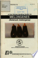 A Post Harvest Handling System For Melongenes Solanum Melongena  Book PDF