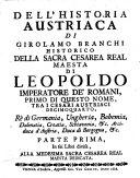 Dell'historia austriaca ...