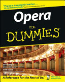 Opera For Dummies Book