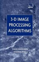 3 D Image Processing Algorithms