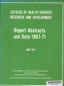 Catalog of Health Services Research and Development