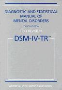 Diagnostic and Statistical Manual of Mental Disorders Book