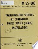 Transportation Services at Continental United States (CONUS) Installations