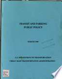Transit and Parking Public Policy