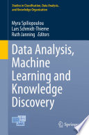 Data Analysis  Machine Learning and Knowledge Discovery Book