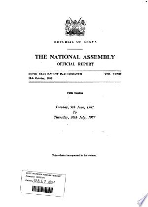 Kenya+National+Assembly+Official+Record+%28Hansard%29