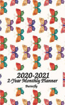 2020   2021 Butterfly 2 Year Monthly Planner