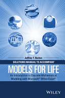 Solutions Manual to Accompany Models for Life