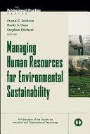 Managing Human Resources for Environmental Sustainability Pdf/ePub eBook