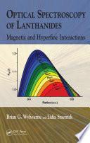 Optical Spectroscopy of Lanthanides Book