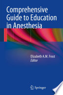 Comprehensive Guide To Education In Anesthesia Book PDF
