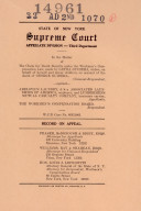Records and Briefs New York State Appellate Division ebook
