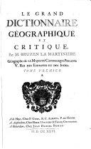 Le grand dictionnaire géographique et critique