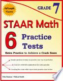 6 STAAR Math Practice Tests Grade 7