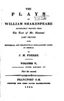 The Plays of William Shakspeare: King Henry IV, part 2