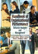 Handbook of Organizational Performance Pdf/ePub eBook