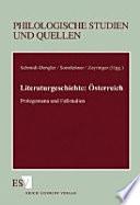 Literaturgeschichte : Österreich