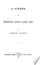 A Scheme for Befriending Orphan Pauper Girls