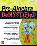 Pre-Algebra DeMYSTiFieD, Second Edition [Pdf/ePub] eBook