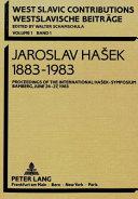 Jaroslav Hasek 1883 1983