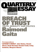 Quarterly Essay 16 Breach of Trust