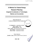 A Method for Federal Energy Research Planning