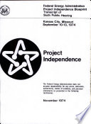 Project Independence Blueprint Book