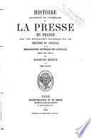 Histoire politique et littéraire de la presse en France, 2