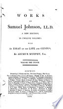 The works of Samuel Johnson, LL.D.  : With An essay on his life and genius , Volume 10