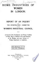 Home Industries of Women in London Book PDF