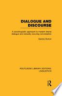 Dialogue and Discourse  RLE Linguistics C  Applied Linguistics