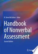 Handbook of Nonverbal Assessment