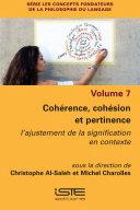 Pdf Cohérence, cohésion et pertinence Telecharger