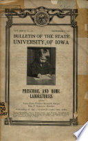 Preschool and Home Laboratories of the Iowa Child Welfare Research Station by State University of Iowa PDF